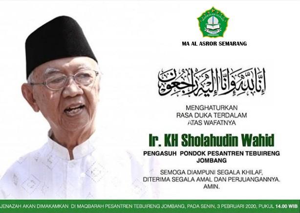 KH. Sholahudin Wahid (Gus Sholah) Tutup Usia